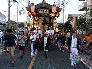 平成30年度坂戸八坂神社夏祭り屋台曳行2日目
