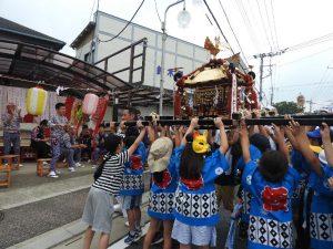 令和元年度坂戸八坂神社夏祭り町内(子供)神輿合同渡御
